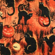 Hi fashion Halloween Pumpkin 100% Cotton Quilting Craft Fabric