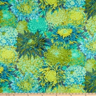 Kaffe Fassett Japanese Chrysanthemum Forest Cotton Craft Quilting Clothes Fabric