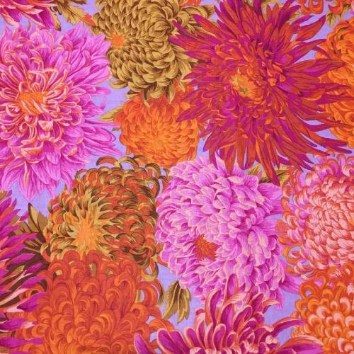 Kaffe Fassett Japanese Chrysanthemum Pink Cotton Craft Quilting Clothes Fabric