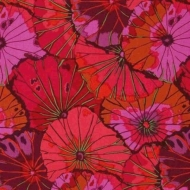 Kaffe Fassett Collective Lotus Leaf Wine Cotton Craft Quilting Clothes Fabric
