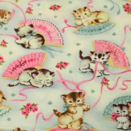Michael Miller smitten kitty kittens Cotton Craft Quilting Clothes Fabric