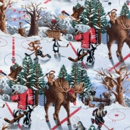 Canadian Hockey for Gordon Fabrics 100% Cotton Craft Quilting Fabric