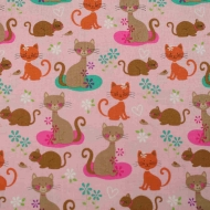 Joann Cats & Mice 100% Cotton Quilting Craft Fabric