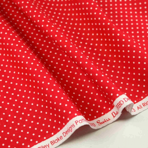 Red Dots Fabric Collection By Riley Blake Cotton Craft Quilting Bunting Fabric