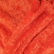 Faux fur simulated sheep plush fleece fabric - Tomato Red (per meter)