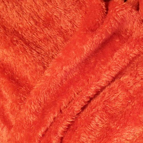 Faux fur simulated sheep plush fleece fabric - Tomato Red (per meter)