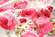 Big Pink Cabbage Roses 100% Cotton Fabric (per meter)