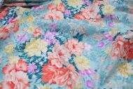 Colourful Rose Floral 100% Cotton Fabric (per meter)