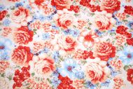 Pink Cabbage Roses 100% Cotton Fabric (per meter)