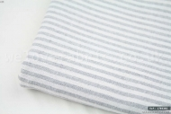 French Ticking Cotton-Linen Blend Grey Stripes (per meter)