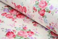 Shabby Chic Floral 100% Cotton Fabric (per meter)