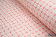 Pink Gingham Checked 100% Cotton Fabric (per meter)