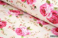 Garden Roses 100% Cotton Fabric (per meter)