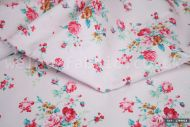 Pink Flowers 100% Cotton Fabric (per meter)