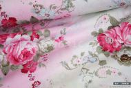 Pink Flowers with Graded Background 100% Cotton Fabric (per meter)