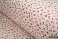 Small Pink Flowers 100% Cotton Fabric (per meter)