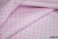 Pink Check-Style 100% Cotton Fabric (per meter)
