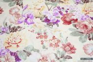 Bright Flowers 100% Cotton Fabric (per meter)