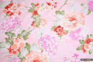 Pink Floral 100% Cotton Fabric (per meter)