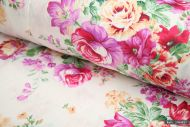 Big Pink Roses 100% Cotton Fabric (per meter)
