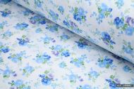 Blue Floral 100% Cotton Fabric (per meter)