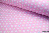 Polka Dots & Flowers 100% Cotton Fabric (per meter)