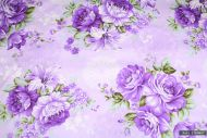 Big Vintage Purple Roses 100% Cotton Fabric (per meter)