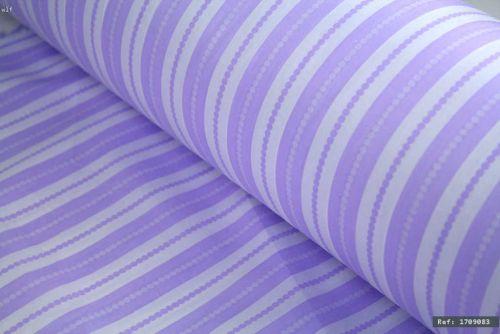 Lilac/Purple Striped 100% Cotton Fabric (per meter)