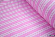 Pink Striped 100% Cotton Fabric (per meter)