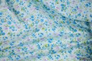 Small Blue & Lilac Flowers 100% Cotton Fabric (per meter)