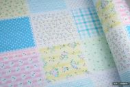 Floral Patchwork Style Printed 100% Cotton Fabric (per meter)
