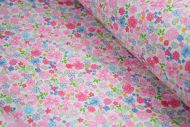 Small Colourful Flowers 100% Cotton Fabric (per meter)