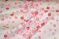 Pink Roses 100% Cotton Fabric (per meter)