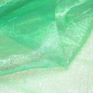 Iridescent Green Crystal Crinkle Organza Fabric (per meter)
