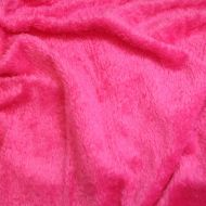 Faux fur simulated sheep plush fleece fabric - Hot Pink (per meter)