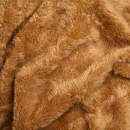 Faux fur simulated sheep plush fleece fabric - Teddy Bear Brown (per meter)