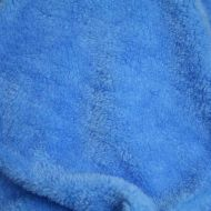 Faux fur simulated sheep plush fleece fabric - Medium Blue (per meter)