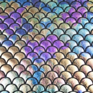 Rainbow Mermaid Scales Spandex Fishtail Stretchy Fabric (per meter)