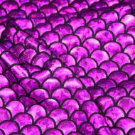 Purple Mermaid Scales Spandex Fishtail Stretchy Fabric (per meter)