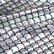 Silver Mermaid Scales Spandex Fishtail Stretchy Fabric (per meter)