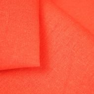 French Ticking Cotton-Linen Blend Plain Orange (per meter)