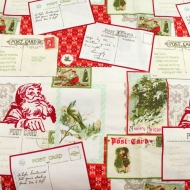 Christmas Letters 100% Cotton Fabric Fat Quarter