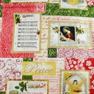 Christmas Hymns 100% Cotton Fabric Designer Fat Quarter