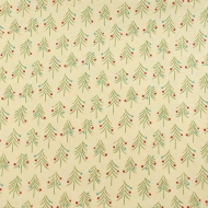 Christmas Pine Trees 100% Cotton Fabric Designer Fat Quarter