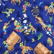 Cowfrogs & Indians 100% Cotton Fabric Designer Fat Quarter