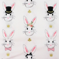 Magician's Rabbit 100% Cotton Fabric Designer Fat Quarter