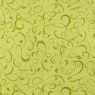 Green Designer 100% Cotton Fabric Fat Quarter