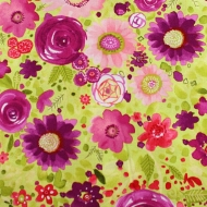 Floral Designer 100% Cotton Fabric Fat Quarter