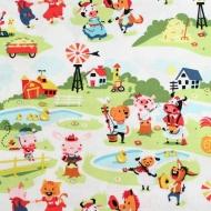 Riley Blake Farm Animals 100% Cotton Fabric Fat Quarter