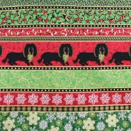 Fabricland Christmas Dogs 100% Cotton Fabric Fat Quarter